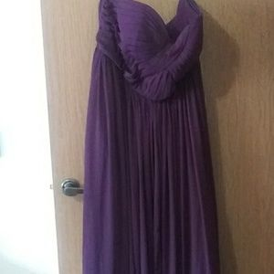 Plus Size Purple Bridesmaids Dress